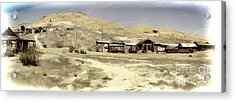 Ghost Town Textured Acrylic Print