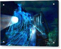 Ghost Train Bridge Acrylic Print by Tom Straub
