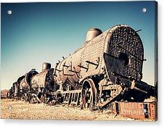 Ghost Train In Uyuni, Bolivia Acrylic Print