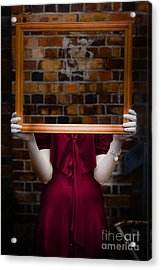 Ghost With Picture Frame Acrylic Print by Jorgo Photography - Wall Art Gallery