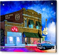 Ghosts Of Memphis - Sun Studio Acrylic Print by Mark Tisdale