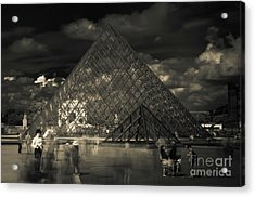 Ghosts Of The Louvre Acrylic Print