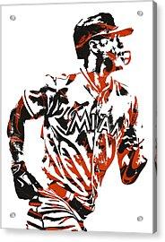 Giancarlo Stanton Miami Marlins Pixel Art  2  Acrylic Print