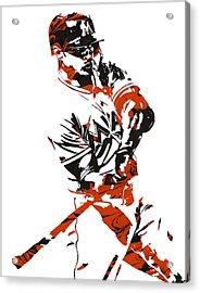 Giancarlo Stanton Miami Marlinspixel Art 1 Acrylic Print