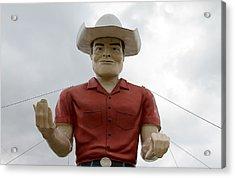 Giant Cowboy Portrait Acrylic Print by Tony Grider