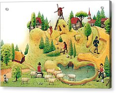 Giant Landscape Acrylic Print by Kestutis Kasparavicius