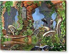 Giant Mushroom Forest Acrylic Print