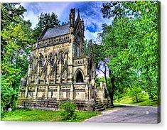 Giant Spring Grove Mausoleum Acrylic Print by Jonny D