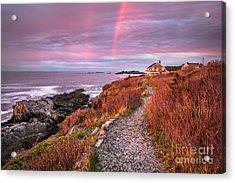 Giant Stairs Rainbow Acrylic Print by Benjamin Williamson