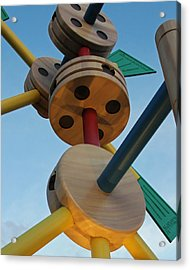 Giant Tinker Toys Acrylic Print
