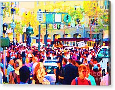 Giants 2010 Champions Parade . Photo Artwork Acrylic Print by Wingsdomain Art and Photography