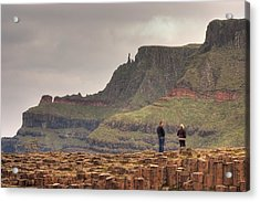 Acrylic Print featuring the photograph Giants Causeway by Ian Middleton
