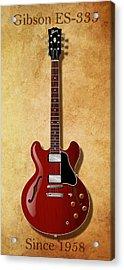 Gibson Es-335 Since 1958 Acrylic Print