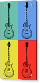 Gibson Guitar Pop Art Acrylic Print