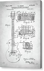 Gibson Les Paul Electric Guitar Patent Acrylic Print by Taylan Apukovska