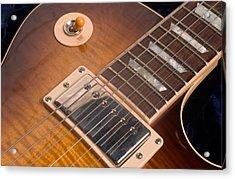 Gibson Les Paul Guitar By Gene Martin Acrylic Print