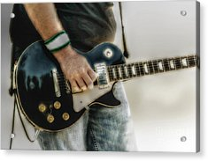 Gibson Les Paul Guitar Player Two Acrylic Print by Randy Steele
