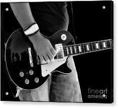 Gibson Les Paul Guitar  Acrylic Print by Randy Steele