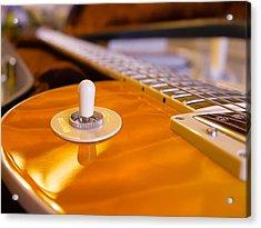 Yellow Quilt Guitar Top Acrylic Print
