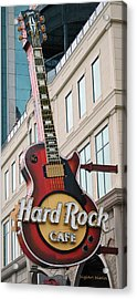 Gibson Les Paul Of The Hard Rock Cafe Acrylic Print