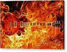 Gibson Les Paul Acrylic Print by Taylan Apukovska