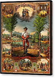 Gift For The Grangers 1873 Victoiran National Grange Agriculture Promotional Art Acrylic Print