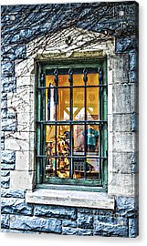 Acrylic Print featuring the photograph Gift Shop Window by Sandy Moulder