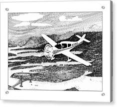 Gig Harbor Flyover Acrylic Print by Jack Pumphrey