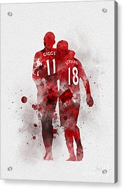 Giggsy And Scholesy Acrylic Print by Rebecca Jenkins