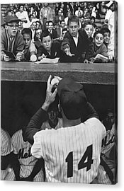 Gil Hodges Baseball Fans Acrylic Print by Underwood Archives