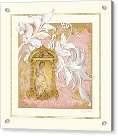 Gilded Age I - Baroque Rococo Palace Ceiling Inspired  Acrylic Print by Audrey Jeanne Roberts