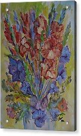 Gilded Flowers Acrylic Print
