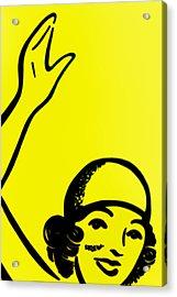 Gilr In Yellow Acrylic Print by John Gusky