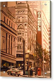 Gimbels In Pittsburgh Acrylic Print by James Guentner