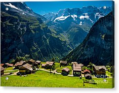 Gimmelwald In Swiss Alps - Switzerland Acrylic Print