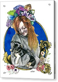 Ginger And Her Lovelies Acrylic Print
