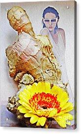 Ginger Man Acrylic Print by Sarah Loft