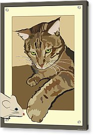 Ginger Peach Bengal Kitty Acrylic Print