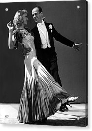 Ginger Rogers And Fred Astaire  Acrylic Print