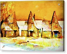 Gingerbread Cottages Acrylic Print
