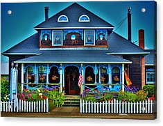Gingerbread House Acrylic Print by Helen Carson