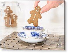 Gingerbread In Teacup Acrylic Print