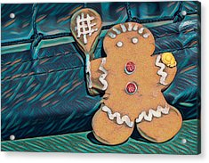 Acrylic Print featuring the photograph Gingerbread Tennis Girl Remix by Dan McManus