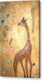 Giraffe   Sold  Acrylic Print by Tinsu Kasai