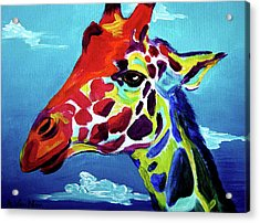 Giraffe - The Air Up There Acrylic Print by Alicia VanNoy Call
