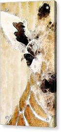 Giraffe Art - Side View Acrylic Print