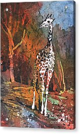 Acrylic Print featuring the painting Giraffe Batik II by Ryan Fox