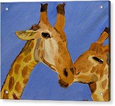 Giraffe Bonding Acrylic Print