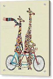 Giraffe Days Lets Tandem Acrylic Print by Bri B