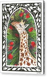 Giraffe In Archway Acrylic Print by Lise Winne